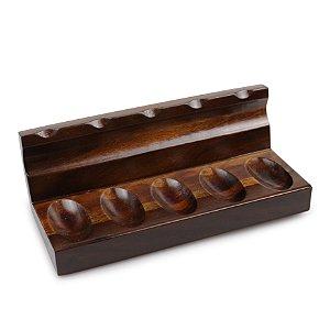 Porta 5 Cachimbos em Madeira
