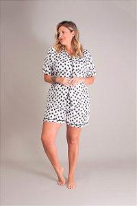 Pijama Curto de Coração Lu