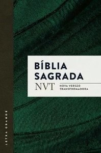 BÍBLIA SAGRADA NVT - VERDE - LETRA GRANDE