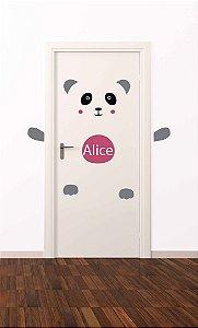 Adesivo de porta infantil-Panda