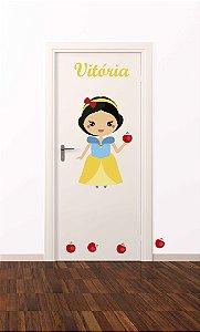 Adesivo de porta infantil-Branca de neve