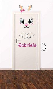 Adesivo de porta infantil-Coelhinho