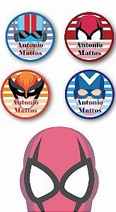 Etiquetas Personalizadas para utensílios 40 unidades - Super Heróis