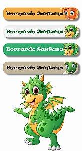 Mini Etiquetas Escolares 72 unidades - Dinossauro