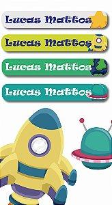 Mini Etiquetas Escolares 72 unidades - Planetas