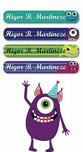 Mini Etiquetas Escolares 72 unidades - Monstros