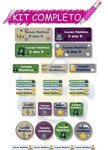 Etiquetas escolares Kit Completo - Futuristas 202 etiquetas