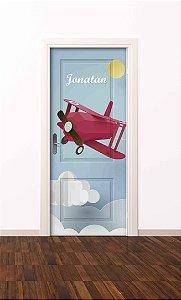 Adesivo de porta infantil-Avião