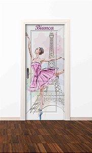 Adesivo de porta infantil-Bailarina