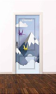 Adesivo de porta infantil-Montanha