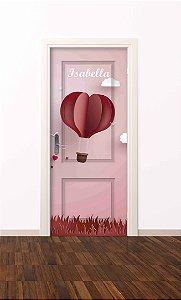 Adesivo de porta infantil-Balão Coração