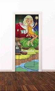 Adesivo de porta infantil-Fada