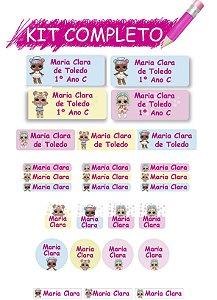 Etiquetas escolares Kit Completo - LOL 202 etiquetas