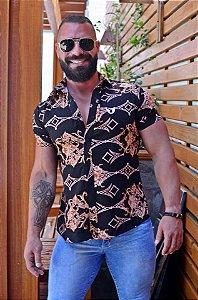 Camisa Masculina Preta Slim