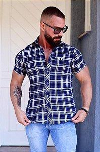 Camisa Masculina Xadrez Slim