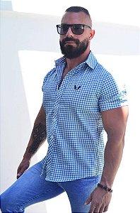 Camisa Xadrez Masculina Slim