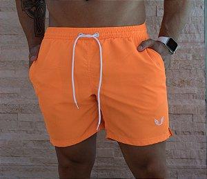 Shorts Praia Masculino Laranja Neon
