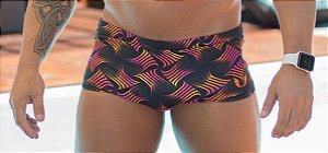 Sunga Masculina Preta com estampa Neon