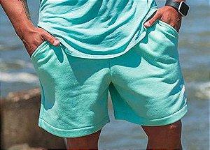 Bermuda Masculina em Moletom Verde Claro