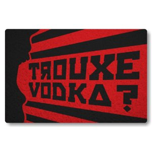 Tapete Capacho Trouxe Vodka - Preto