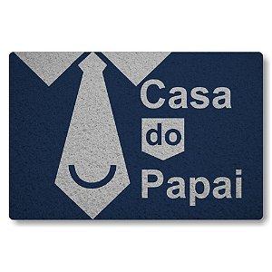 Tapete Capacho Casa do Papai - Azul Marinho