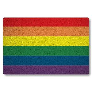 Tapete Capacho Bandeira GLBT - Colorido