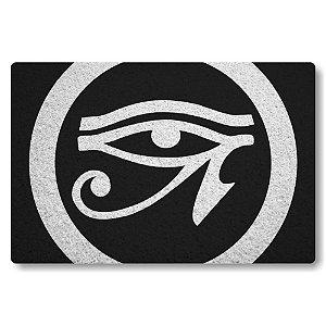 Tapete Capacho Olho de Horus - Preto