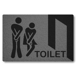 Tapete Capacho Toilet - Cinza