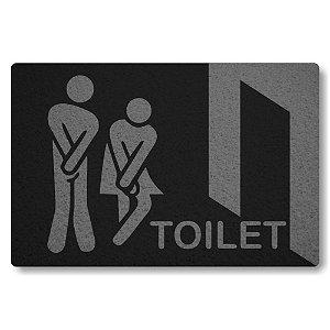 Tapete Capacho Toilet - Preto