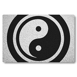 Tapete Capacho Yin Yang - Bem e Mal - Branco