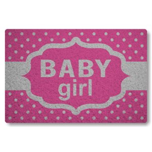 Tapete Capacho Baby Girl - Rosa Pink