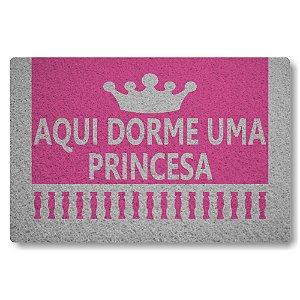 Tapete Capacho Aqui Dorme uma Princesa - Rosa Pink