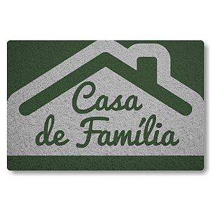 Tapete Capacho Casa de Familia - Prata