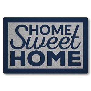 Tapete Capacho Home Sweet Home II - Prata