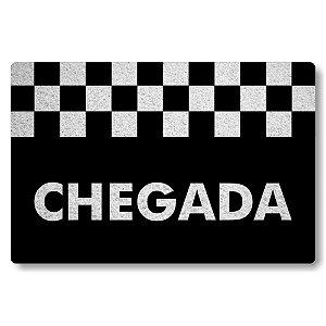 Tapete Capacho Chegada - Preto