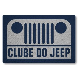 Tapete Capacho Clube do Jeep - Prata
