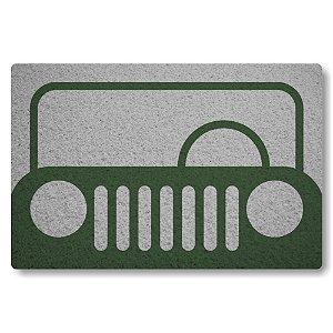 Tapete Capacho Frente de Jeep - Prata