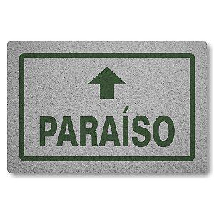 Tapete Capacho Paraiso - Prata