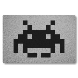 Tapete Capacho Space Invader II - Prata