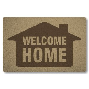 Tapete Capacho Welcome Home - Bege
