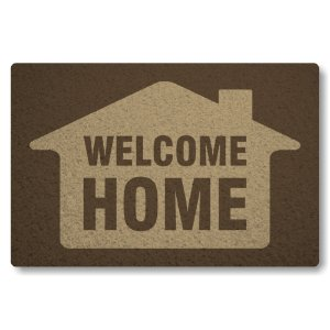 Tapete Capacho Welcome Home - Marrom