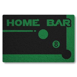 Tapete Capacho Home Bar - Preto