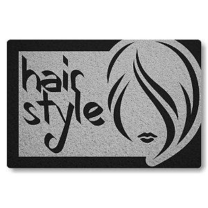 Tapete Capacho Hair Style - Prata