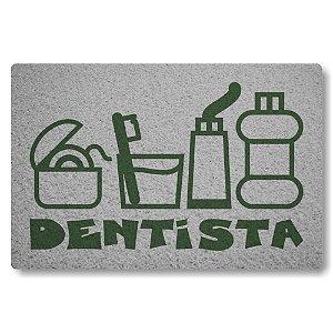 Tapete Capacho Dentista - Prata