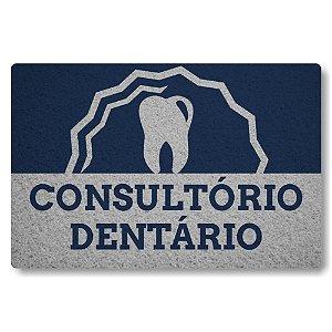 Tapete Capacho Consultorio Dentario - Azul Marinho