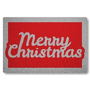 Tapete Capacho Merry Christmas - Vermelho