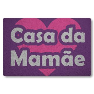 Tapete Capacho Casa da Mamae - Roxo