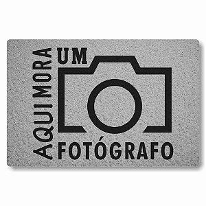 Tapete Capacho Aqui Mora um Fotografo - Prata