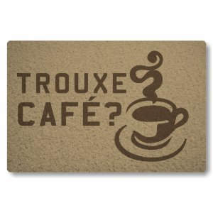 Tapete Capacho Trouxe cafe - Bege