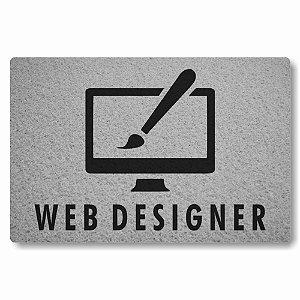 Tapete Capacho Web Designer - Prata